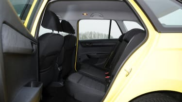 There's plenty of space in the Fabia Estate's back seats