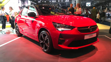 2019 Vauxhall Corsa - Front static 3/4 view at Frankfurt