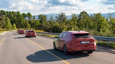 2020 Skoda Octavia Estate prototypes - rear view