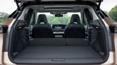 Nissan Ariya boot with seats flat