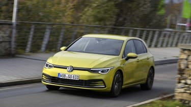 2020 Volkswagen Golf - front 3/4 dynamic view