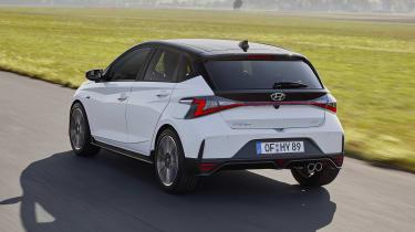 2021 Hyundai i20 N Line - rear 3/4 dynamic