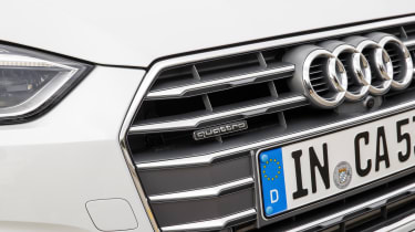 The Audi A5 Cabriolet's new grille brings it into line with the other models in the Audi range.