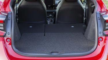Toyota GR Yaris hatchback boot seats folded down