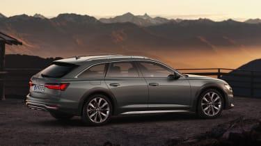 New 2019 Audi A6 Allroad estate - rear 3/4 view static