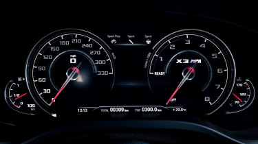 BMW X3 M Competition SUV instruments