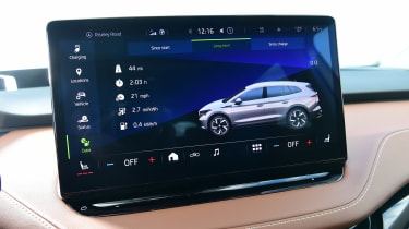 Skoda Enyaq iV SUV infotainment display