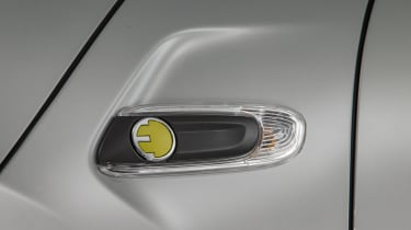 MINI Electric - side badging close up