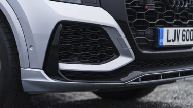 Audi RS Q8 SUV - front grille and bumper close up