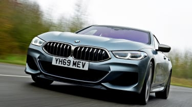 BMW 8 Series Gran Coupe saloon front tracking