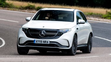 Mercedes EQC SUV front action