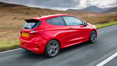 Ford Fiesta driving - rear