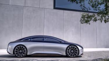 Mercedes EQS concept side view