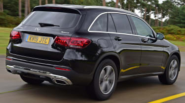 Mercedes GLC SUV rear 3/4 tracking