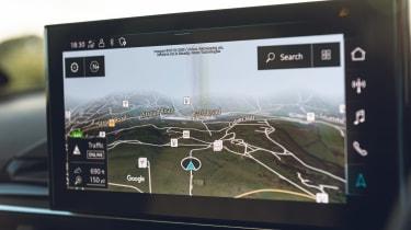 Audi S4 Avant estate infotainment display