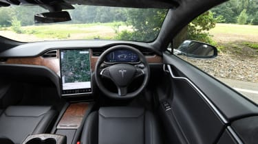 Tesla Model S - interior wide view