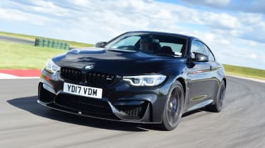 BMW M4 Coupe front 3/4 tracking