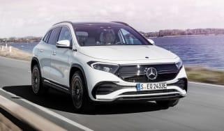 Mercedes EQA driving