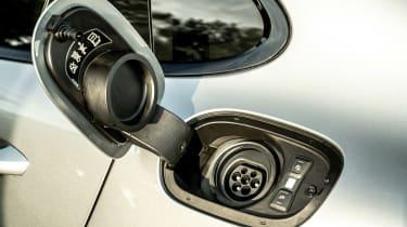 Porsche Panamera hatchback charging port