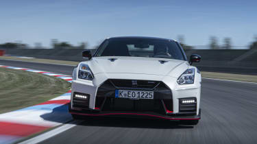 Nissan GT-R Nismo coupe front driving