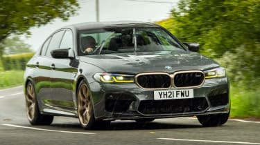 BMW M5 CS front 3/4 cornering