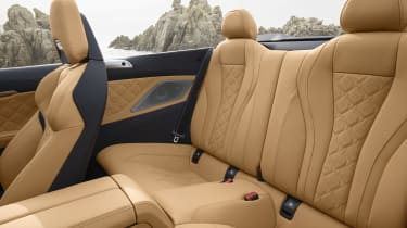 BMW M8 Competition convertible - rear seating