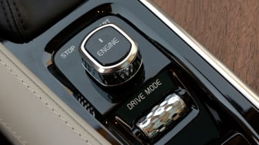 Instead of a key or push button, you twist a knob to start the XC90