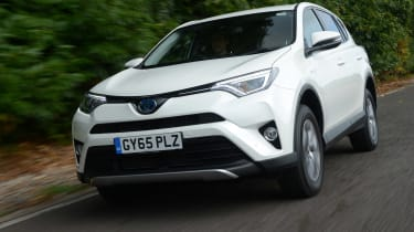 The RAV4 Hybrid is fitted with a 2.5-litre petrol engine, electric motor and small battery pack