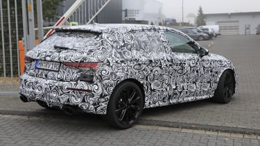 2021 Audi RS3 spotted testing - rear view