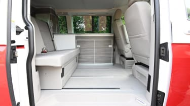 Volkswagen California Ocean - rear seating and kitchen/storage