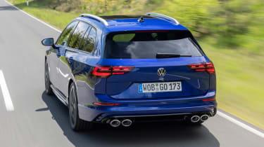 2021 Volkswagen Golf R Estate - rear 3/4 driving