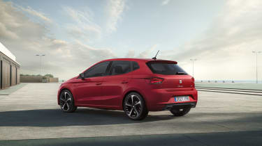 2021 SEAT Ibiza FR Desire Red - rear 3/4