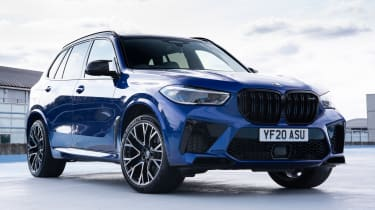 BMW X5 M Competition SUV front 3/4 static