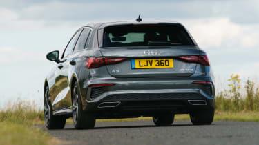 Audi A3 Sportback hatchback rear cornering