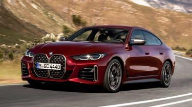 New BMW 4 Series Gran Coupe M440i xDrive - front 3/4 dynamic