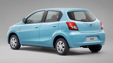 Datsun GO hatchback 2013 rear quarter static