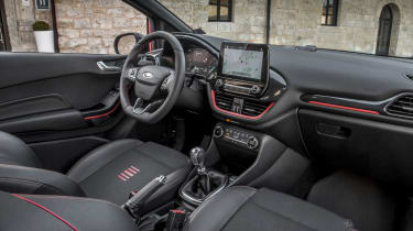 ST-Line models have sporty colour-coded interior accents