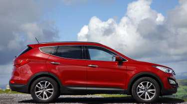 The Santa Fe sits above the Hyundai Tucson SUV in the line-up, with the option of five or seven seats