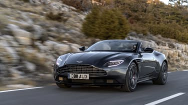 While the DB11 Coupe can have a V12, the Volante is V8 only.... but that's no bad thing