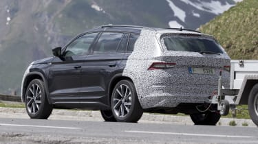 Skoda Kodiaq spy shot rear