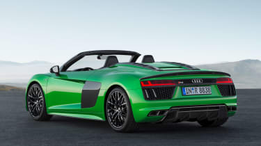 With 602bhp its high-revving V10 engine gets the Spyder Plus from 0-62mph in 3.3 seconds and onto 204mph