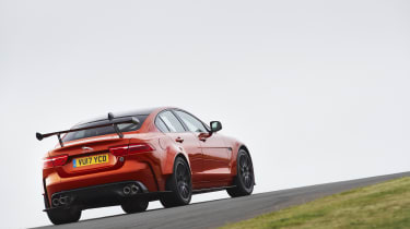 Power comes from a 592bhp version of Jaguar's 5.0-litre supercharged V8 petrol engine