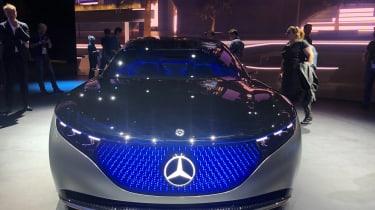 Mercedes EQS electric saloon concept - Frontal shot - Frankfurt