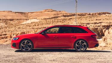 Audi RS4 Avant estate side static