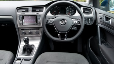 The Golf Estate has a robust and high-quality interior, but it's not the most attractive design