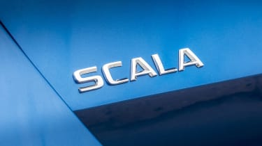 Skoda Scala hatchback badge