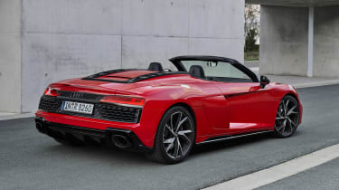 2020 Audi R8 RWD Spyder - rear 3/4 static view