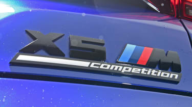 BMW X5 M Competition SUV badges