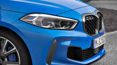 2019 BMW 1 Series M135i xDrive front nose close-up