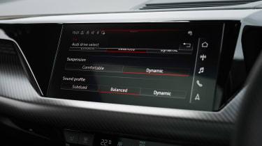 Audi e-tron GT saloon infotainment display
